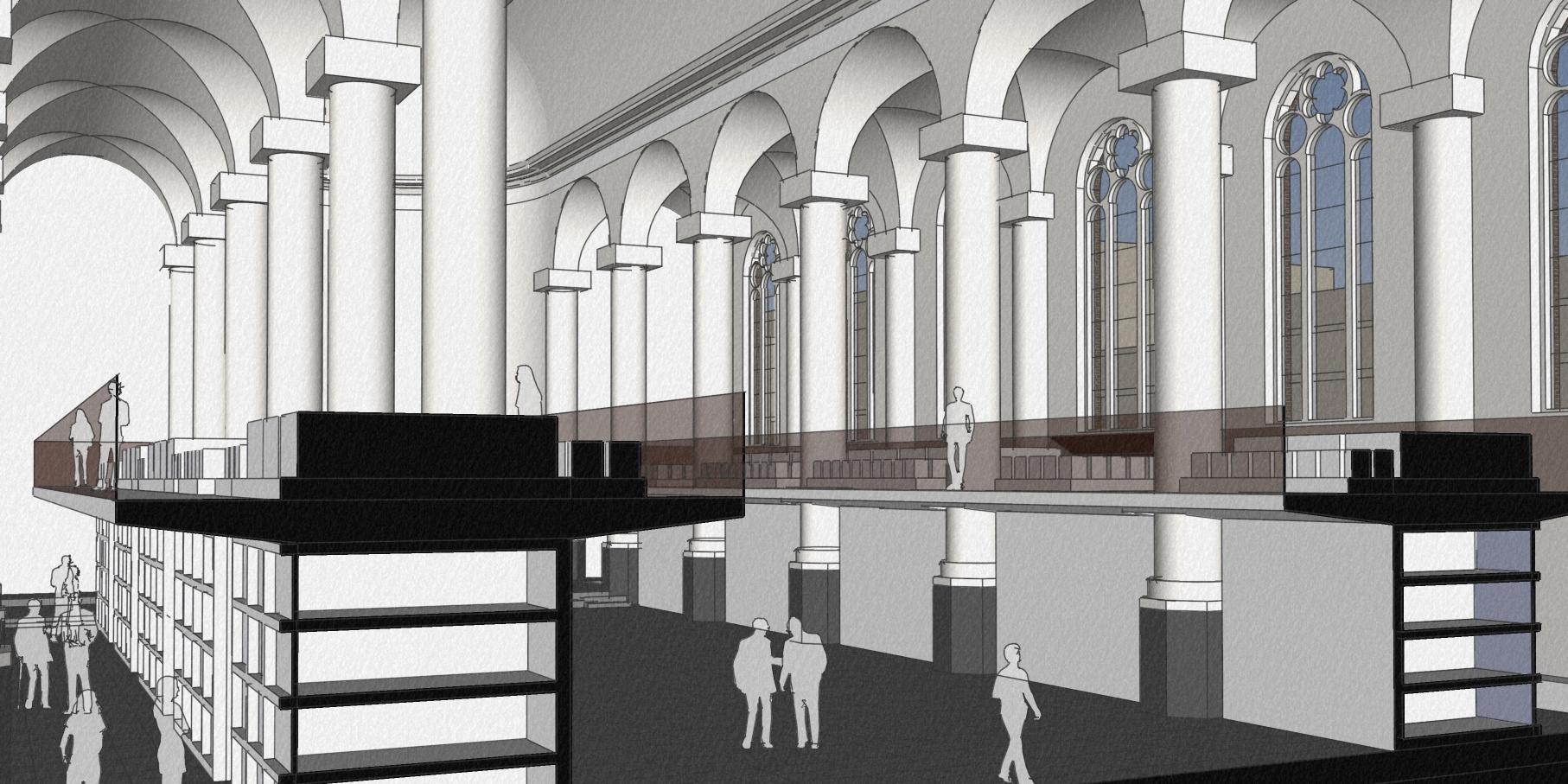 Herbestemming Havenkerk Schiedam   BEELEN CS architecten / Thallia groep Weert - Eindhoven
