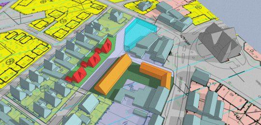 3D impressie - gezondheidscentrum met woonzorg complex, Stramproy - BEELEN CS architecten Eindhoven / Thalliagroep Weert