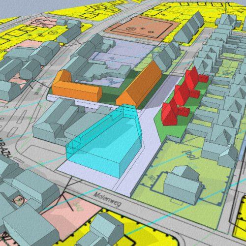 3D impressie - gezondheidscentrum met woonzorg complex, Stramproy   BEELEN CS architecten / Thallia groep Weert - Eindhoven