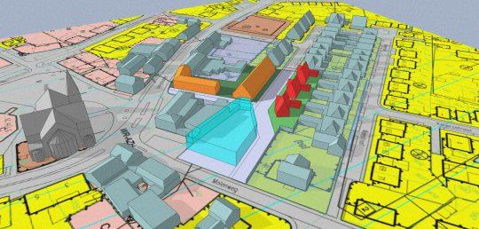 3D impressie - gezondheidscentrum met woonzorg complex, Stramproy | BEELEN CS architecten / Thallia groep Weert - Eindhoven