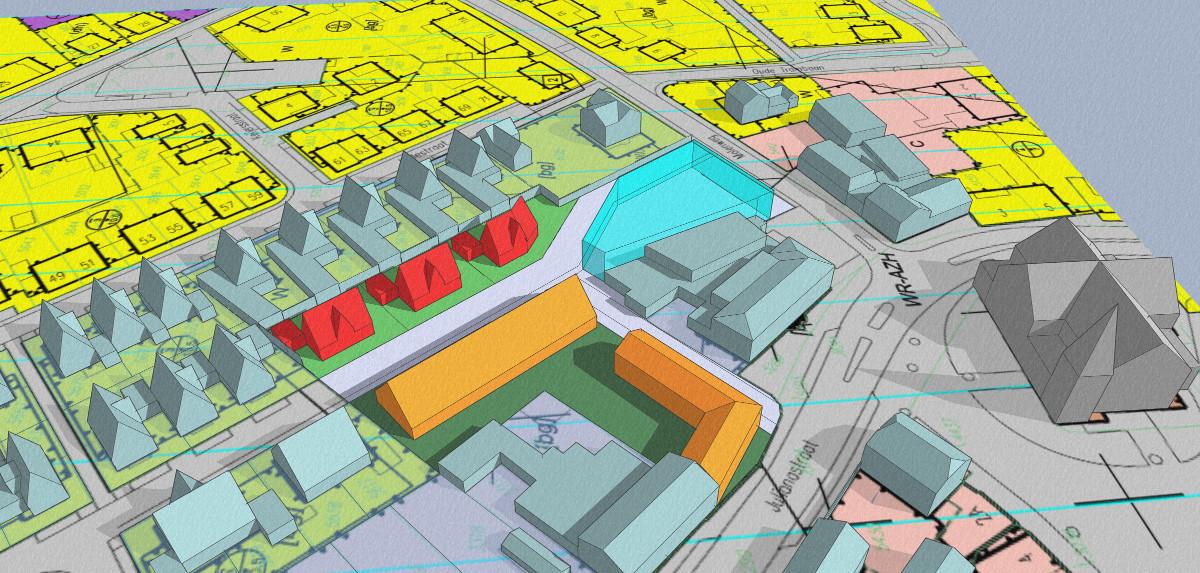 3D impressie gezondheidscentrum met woonzorg complex Stramproy BEELEN CS architecten Eindhoven Thalliagroep Weert