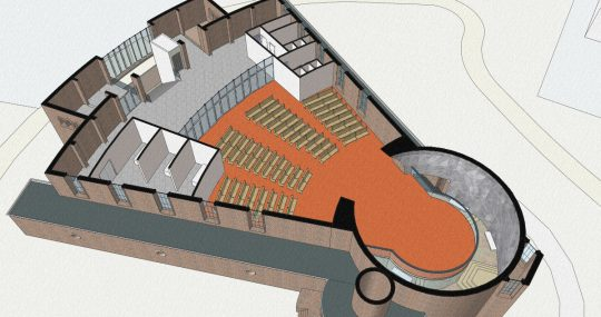 3D impressie verdieping - Fatimakerk Weert - BEELEN CS architecten Eindhoven / Thalliagroep Weert