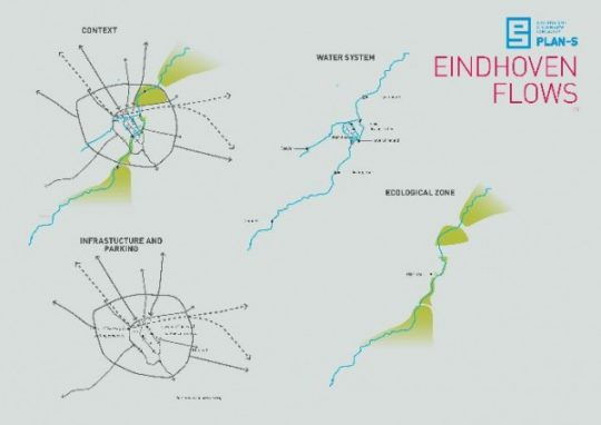Concept situatie Eindhoven FLOWS | PLAN-S / BEELEN CS architecten Eindhoven