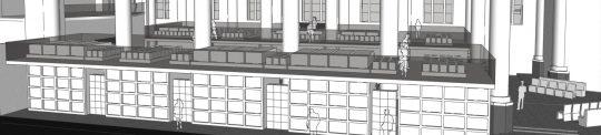 Headafbeelding- plan voor mausoleum in de Kerk aan de Lange Haven, Schiedam - BEELEN CS architecten Eindhoven / Thalliagroep Weert