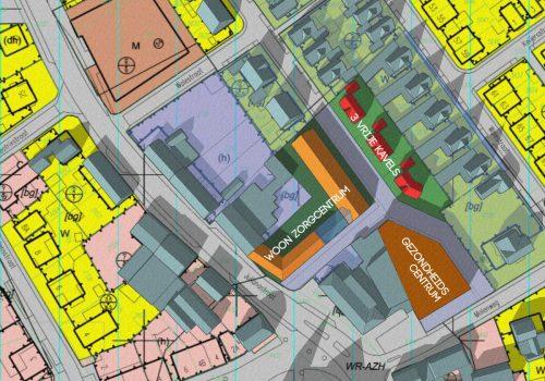 Overzicht plan situatie - gezondheidscentrum met woonzorg complex, Stramproy - BEELEN CS architecten Eindhoven / Thalliagroep Weert