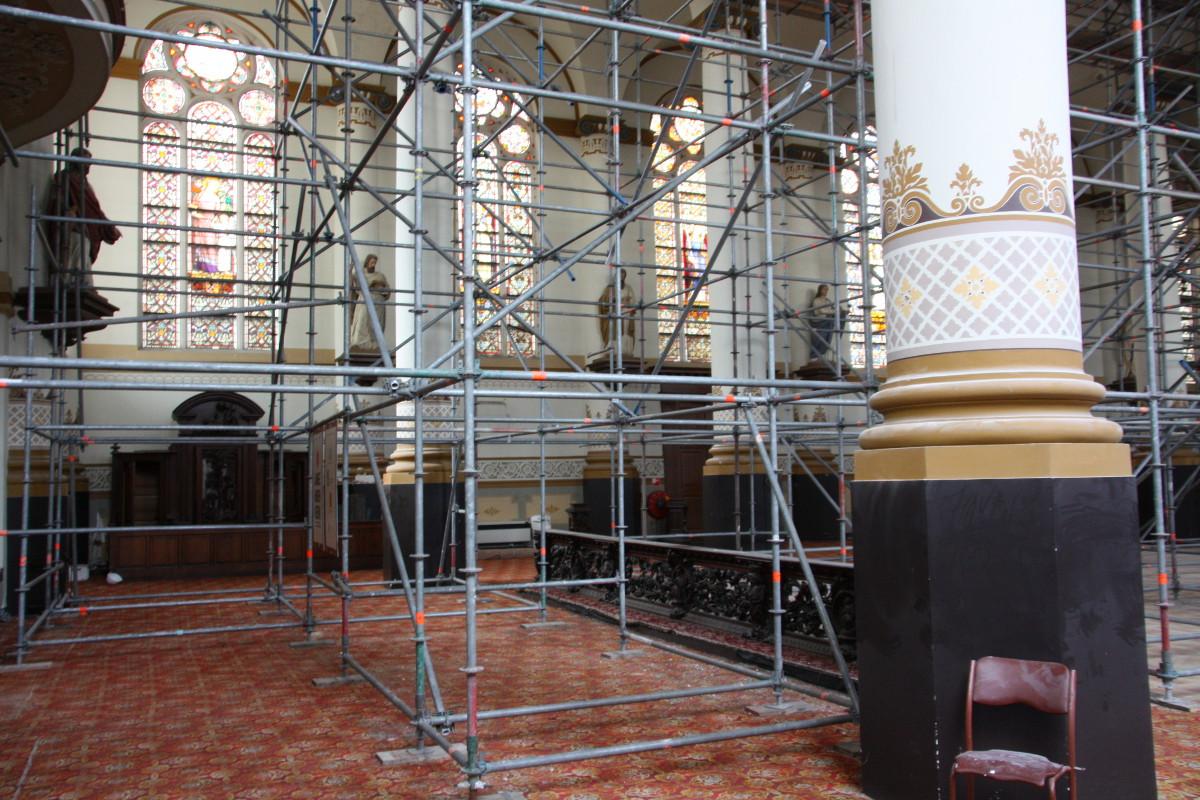 Restauratie in uitvoering - plan voor mausoleum in de Kerk aan de Lange Haven, Schiedam- BEELEN CS architecten Eindhoven / Thalliagroep Weert
