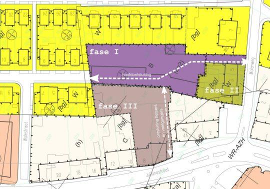 Situatie fasering - gezondheidscentrum met woonzorg complex, Stramproy - Thalliagroep Weert Eindhoven