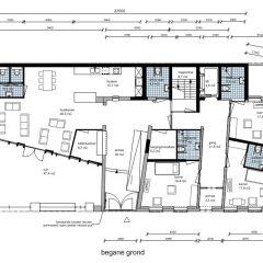 Zorgappartementen begane grond - Plan voor herbestemming pastorie naar zorgappartementen of hotel, Weert - BEELEN CS architecten Eindhoven / Thalliagroep Weert
