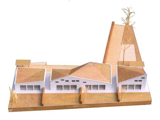 maquette bovenzijde - Ontwerp seniorenwoningen, Veghel - BEELEN CS architecten Eindhoven / Thalliagroep Weert