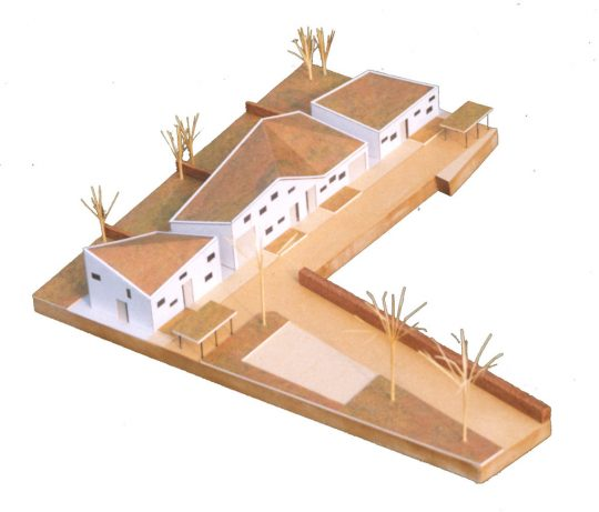 maquette entreegebied - Ontwerp seniorenwoningen, Veghel - BEELEN CS architecten Eindhoven / Thalliagroep Weert