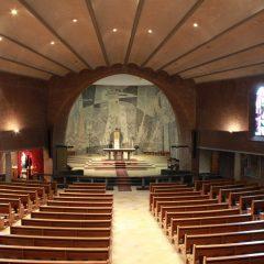 zicht op priesterkoor - Fatimakerk Weert - BEELEN CS architecten Eindhoven / Thalliagroep Weert