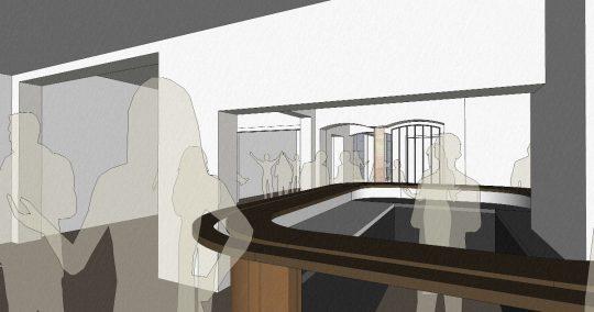 3D impressie bar - Herbestemming naar studentensociëteit, Eindhoven - BEELEN CS architecten Eindhoven / Thalliagroep Weert