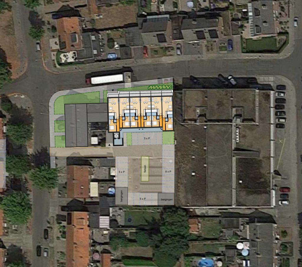 Ontwikkeling appartementgebouw Beemdenstraat, Weert - Situatie | BEELEN CS architecten / Thallia groep Weert - Eindhoven