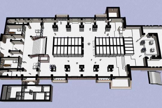 Herbestemming Theresiakerk opengewerkte plattegrond, Landgraaf - BEELEN CS architecten Eindhoven / Thalliagroep Weert