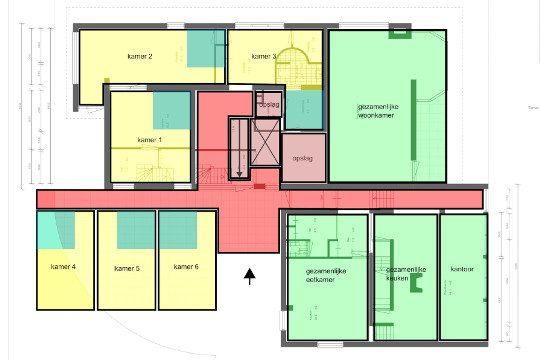 Studie herbestemming herbestemming villa naar jeugdzorg, Tungelroy - BEELEN CS architecten Eindhoven / Thalliagroep Weert