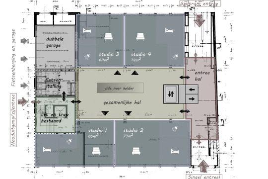 Studie herbestemming oude Rabobank, Weert - BEELEN CS architecten Eindhoven / Thalliagroep Weert