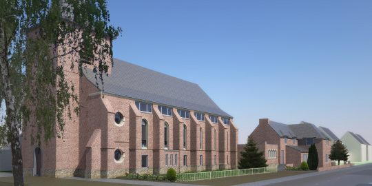 Headafbeelding Herbestemming Bernadettekerk, Landgraaf - BEELEN CS architecten Eindhoven / Thalliagroep Weert
