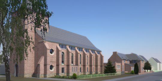 Herbestemming Bernadettekerk, Landgraaf | BEELEN CS architecten / Thallia groep Weert - Eindhoven
