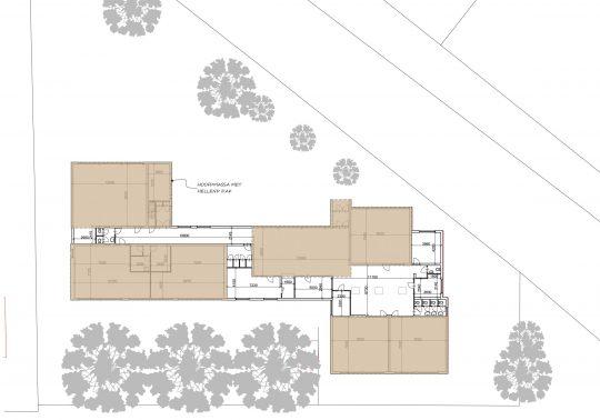Studie inpassing woongroep in schoolgebouw, massas, Guttecoven Sittard-Geleen | BEELEN CS architecten / Thallia groep Weert - Eindhoven