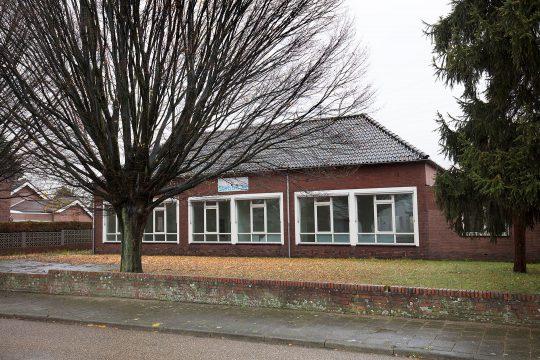 Studie inpassing woongroep in schoolgebouw, straatzijde 01, Guttecoven Sittard-Geleen | BEELEN CS architecten / Thallia groep Weert - Eindhoven